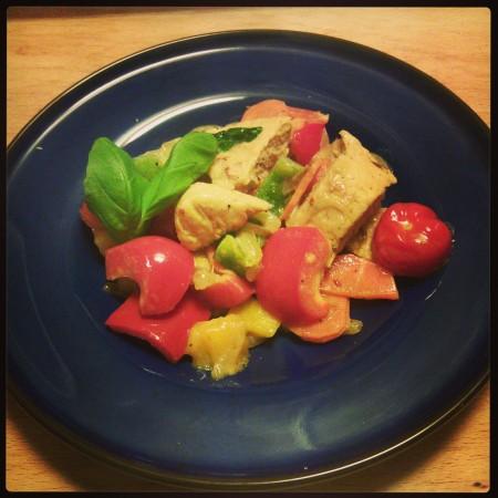 Quorngryta med grönsaker
