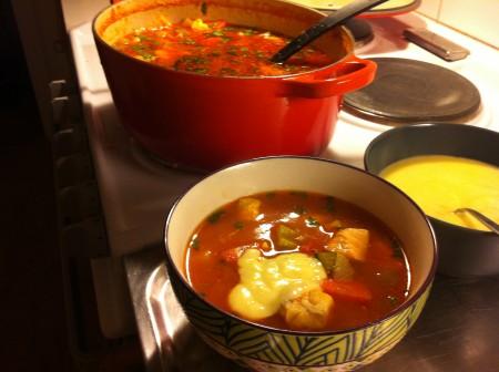 Bild.fisksoppa med ailo